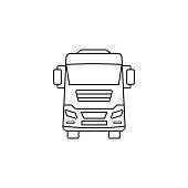truck icon, transport symbol vector graphics