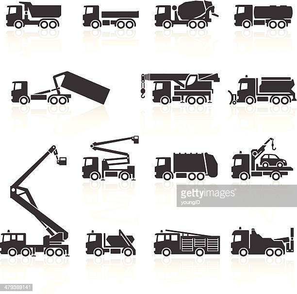 truck icons - fire engine stock illustrations, clip art, cartoons, & icons