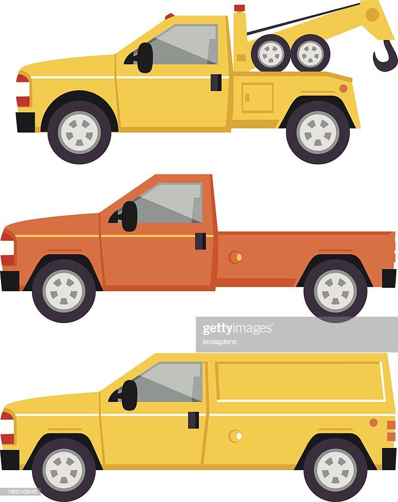 Truck Illustration - flat style