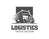 Truck illustration template, perfect for delivery, cargo and logistic business