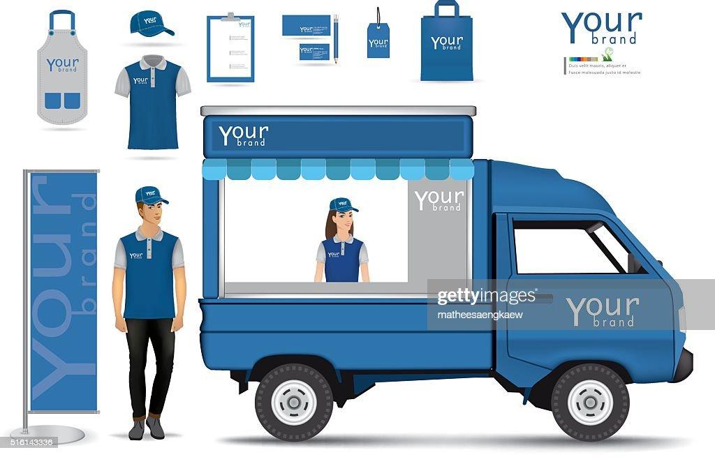 truck shop.vector