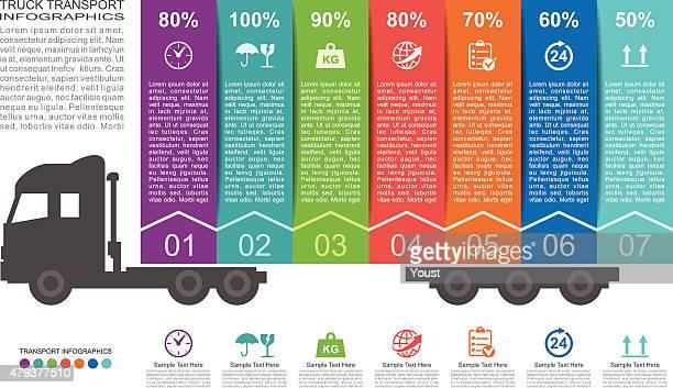 lkw-verkehr infografiken - weichzeichner stock-grafiken, -clipart, -cartoons und -symbole