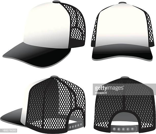 trucker has - trucker's hat stock illustrations
