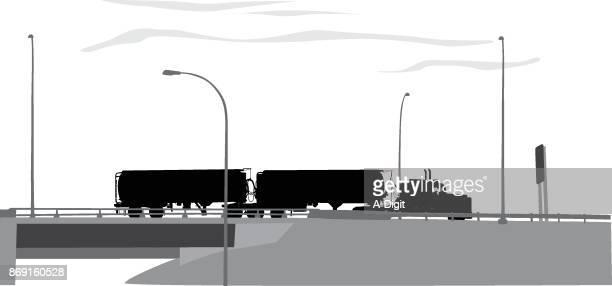illustrations, cliparts, dessins animés et icônes de truckingdoubletrailer - chauffeur routier