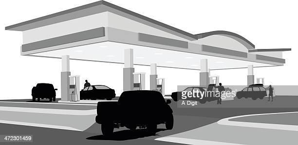 Truck'n Vector SilhouetteGas