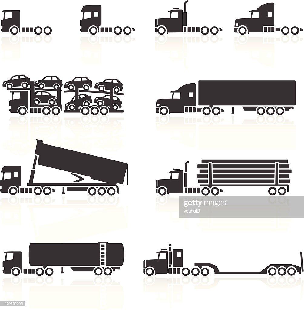Trucks and Semi-Trailer Icons