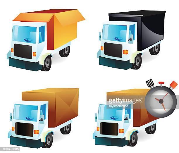 illustrations, cliparts, dessins animés et icônes de les camions et transport - chauffeur routier