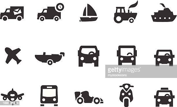 Trucks, Cars and Boat Icons