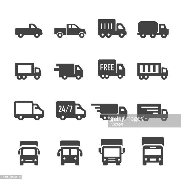 trucks icons - acme series - truck stock illustrations