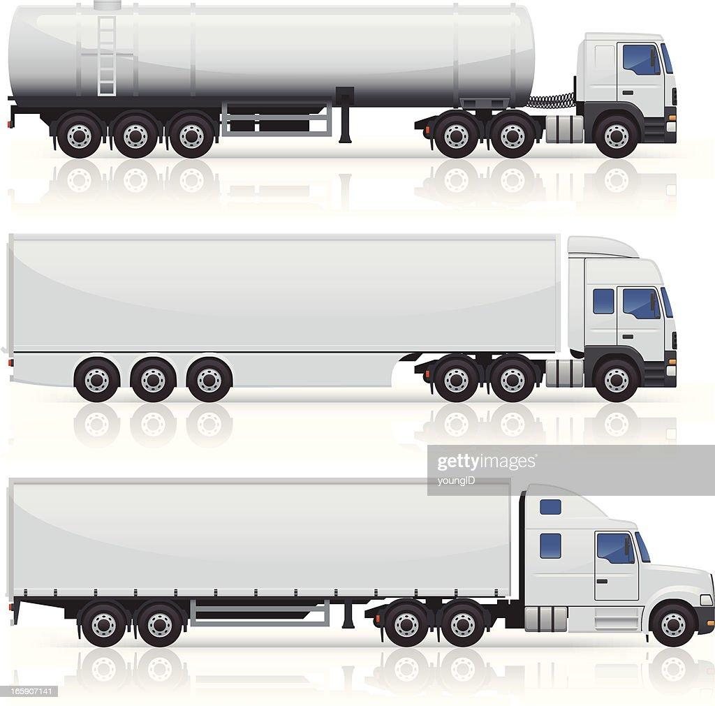 Caminhões & Trailers ícones : Ilustração