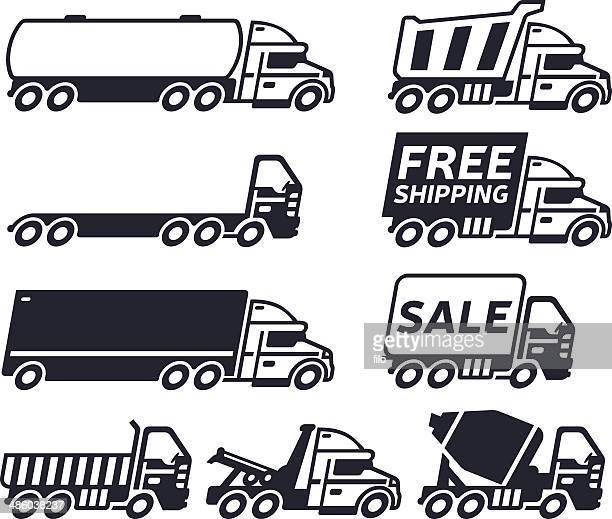 trucks - oil tanker stock illustrations, clip art, cartoons, & icons