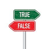 True and false signpost