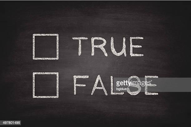 true or false checkboxes on blackboard - chalkboard - artificial stock illustrations, clip art, cartoons, & icons