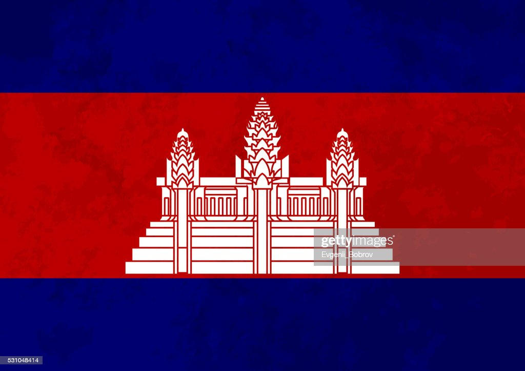 True proportions Cambodia flag with texture