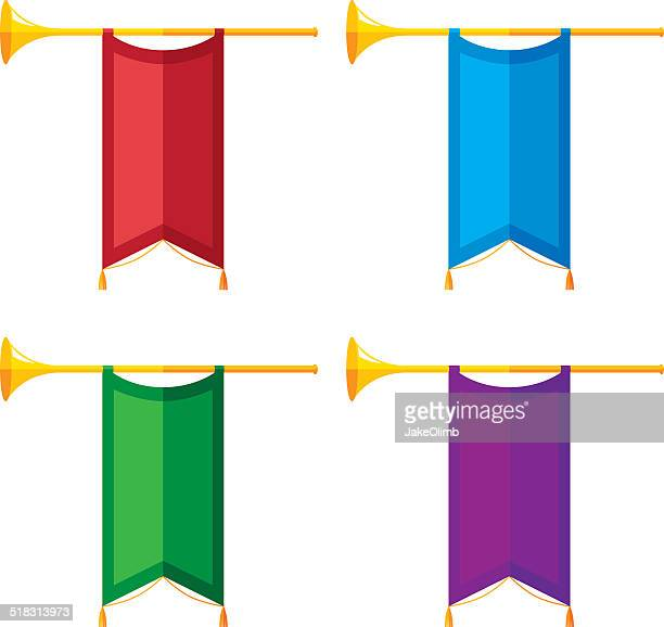 Trumpet Banners Flat