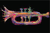 trumpet illustration