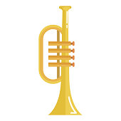 trumpet instrument isolated icon