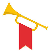 Trumpet with flag