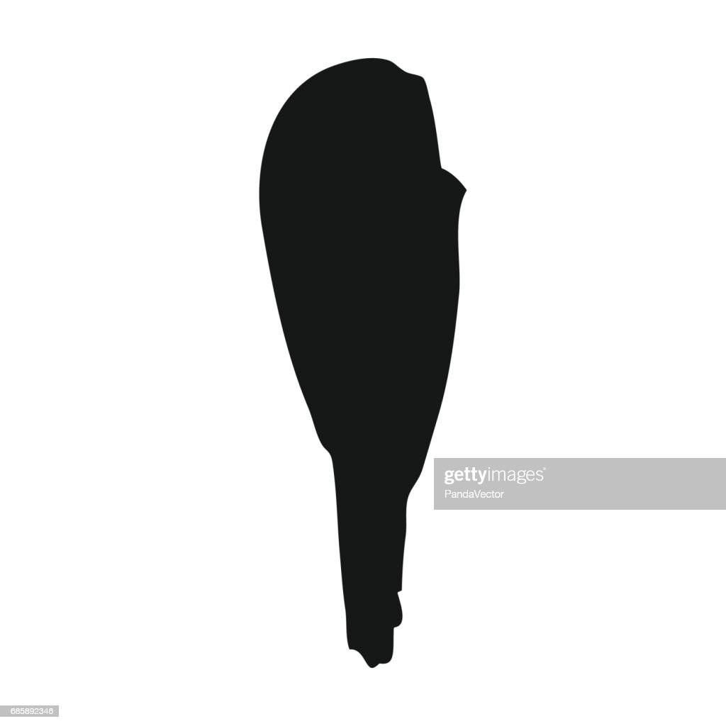 Truncheon of stone age icon in black style isolated on white background. Stone age symbol stock vector illustration.