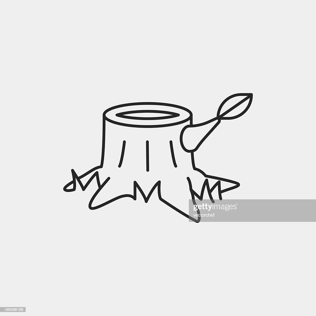 trunk line icon : Vector Art