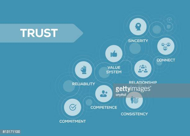 trust icons with keywords - respect stock illustrations