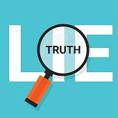truth lie symbol text magnify magnifying find true