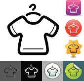 T-shirt and hanger icon | solicosi series