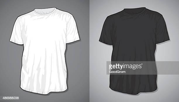 t-shirt blank - t shirt stock illustrations, clip art, cartoons, & icons