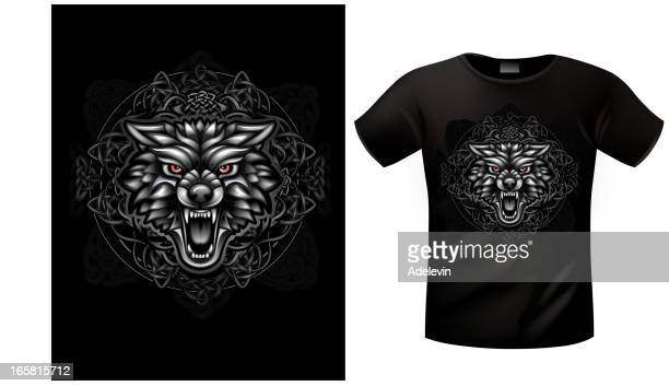 T-shirt Celtic wolf