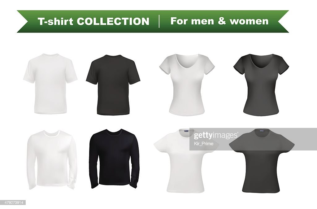 T-shirt for men and women template set
