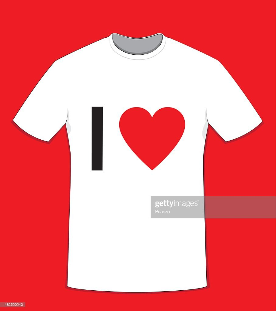 T-shirt I Love with copy space