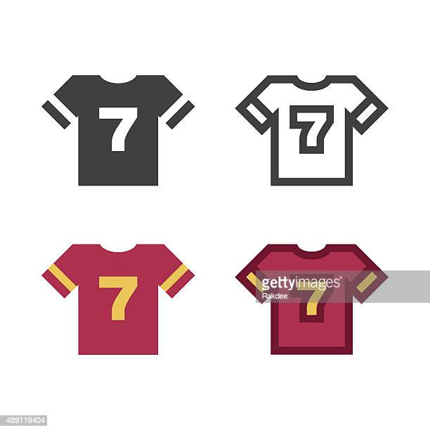 t-shirt icon - sports team stock illustrations, clip art, cartoons, & icons