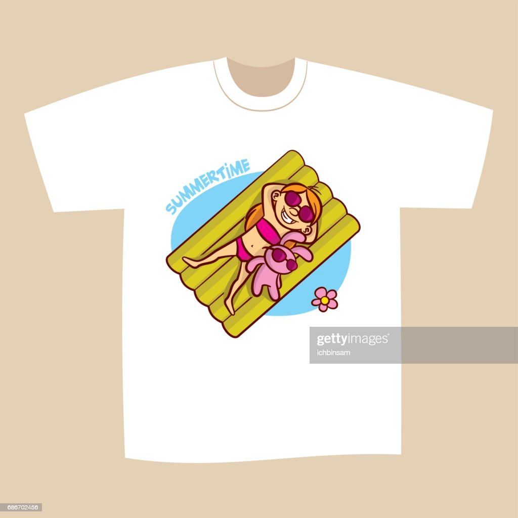 b3e616ac4a5 T-shirt Print Design Summer vacation   stock vector