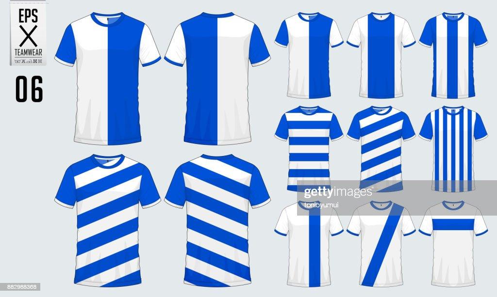 483ed1a1890 T-shirt sport design for soccer jersey, football kit or sport uniform  template.