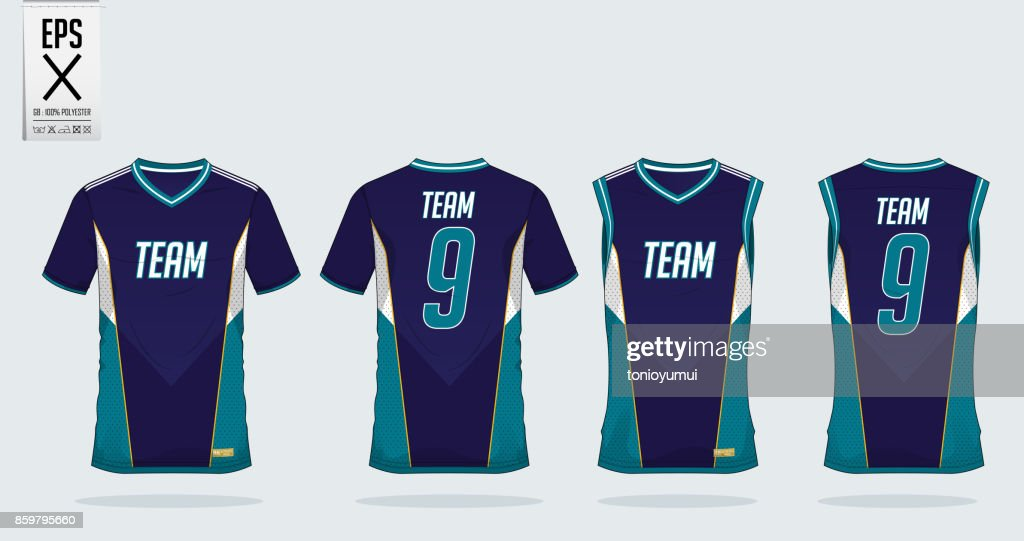 77e1caa194c T-shirt sport design template for soccer jersey, football kit and tank top  for