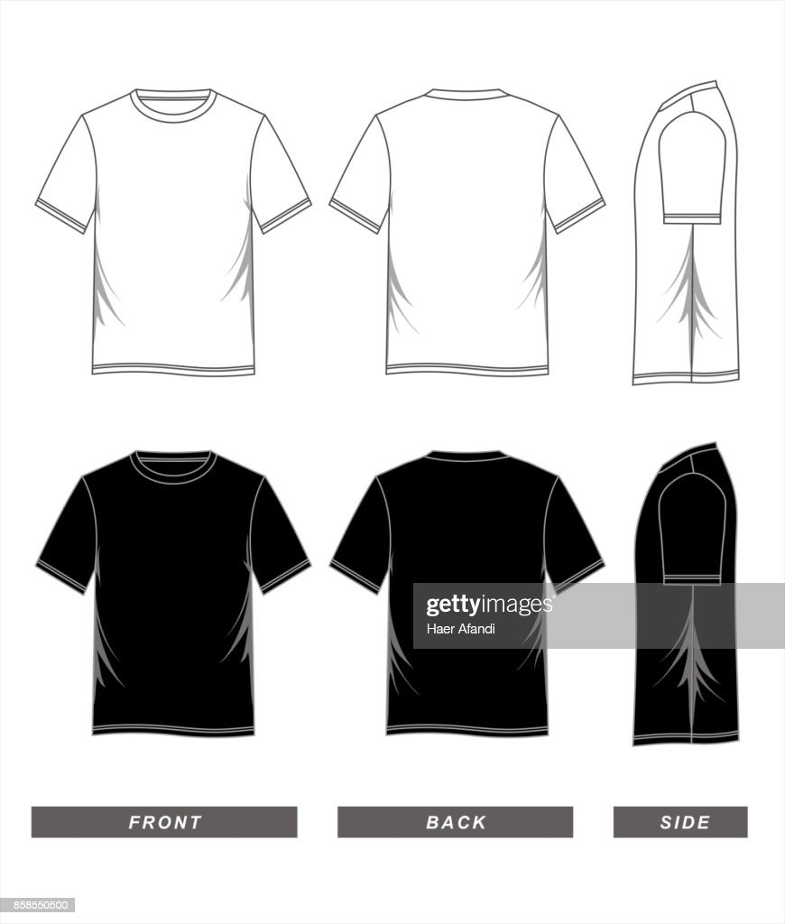t-shirt template black white