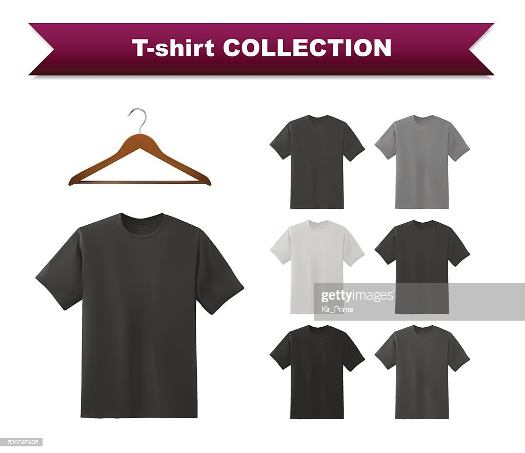 T-shirt template collection with hanger