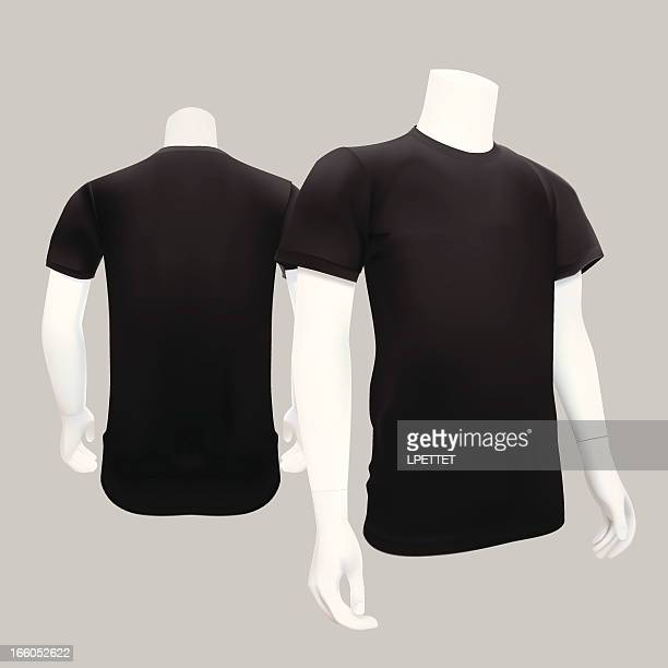 t-shirt template - vector illustration - mannequin stock illustrations, clip art, cartoons, & icons