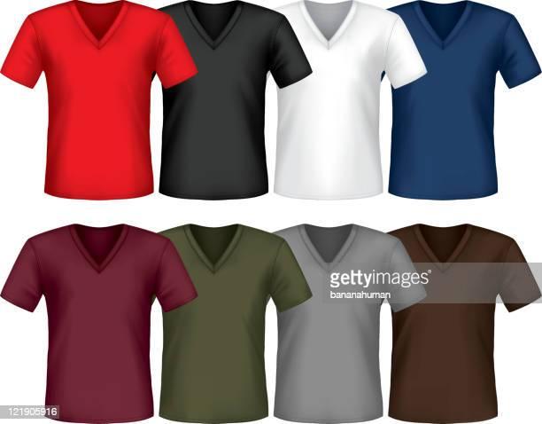 t シャツ - vネック点のイラスト素材/クリップアート素材/マンガ素材/アイコン素材