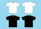 T-shirts Template - black & white