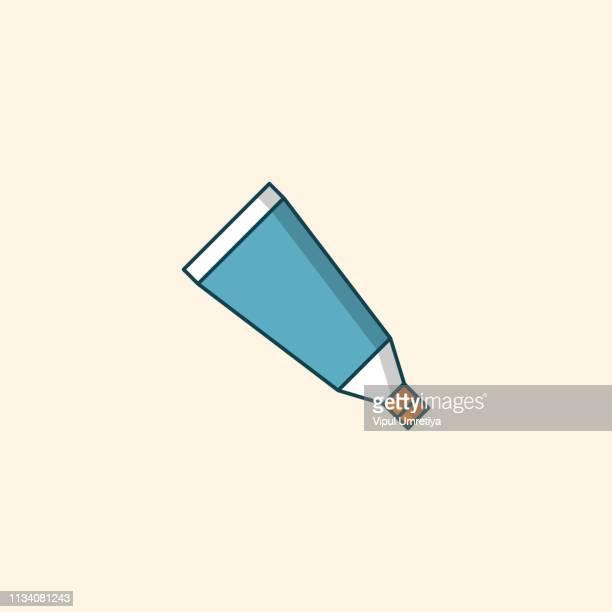 tube, container, toothpaste, cream icon. - cream colored stock illustrations