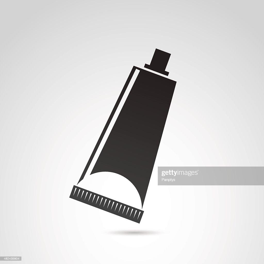 Tube, container, toothpaste, cream icon.