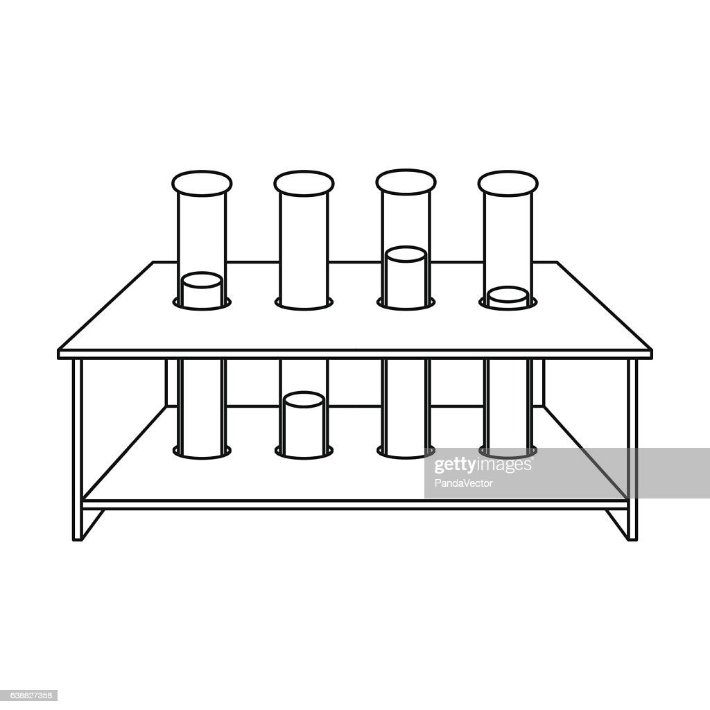 Tubes icon in outline style isolated on white background. Medici