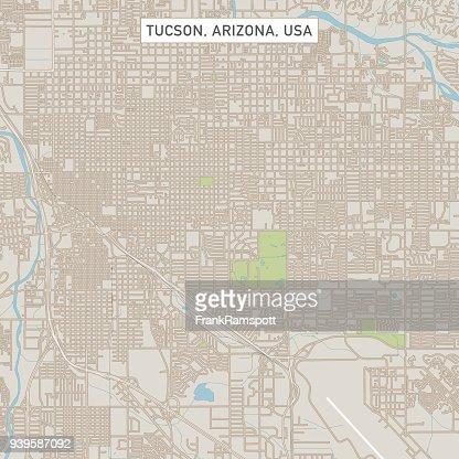 Tucson Arizona Us City Street Map High-Res Vector Graphic ... on arizona tucson, zip code map tucson, weather tucson, street map tucson,