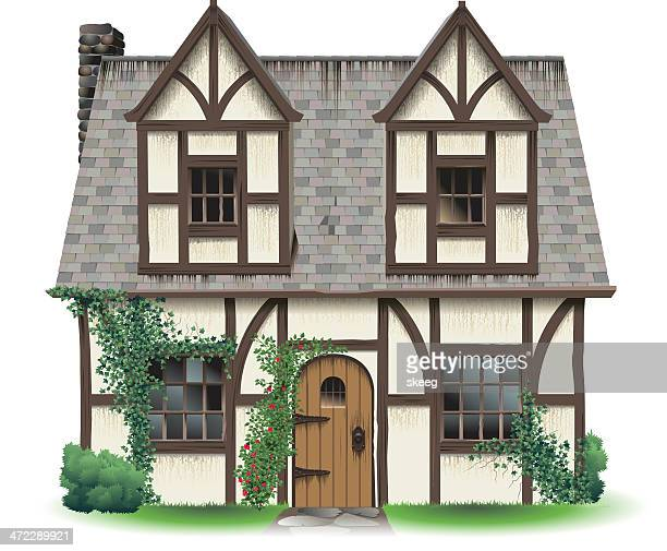 Tudor Hause mit Wein