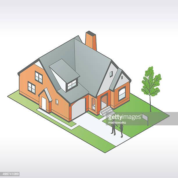 Tudor House Illustration