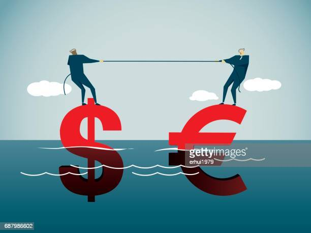 tug-of-war - dollar sign stock illustrations, clip art, cartoons, & icons