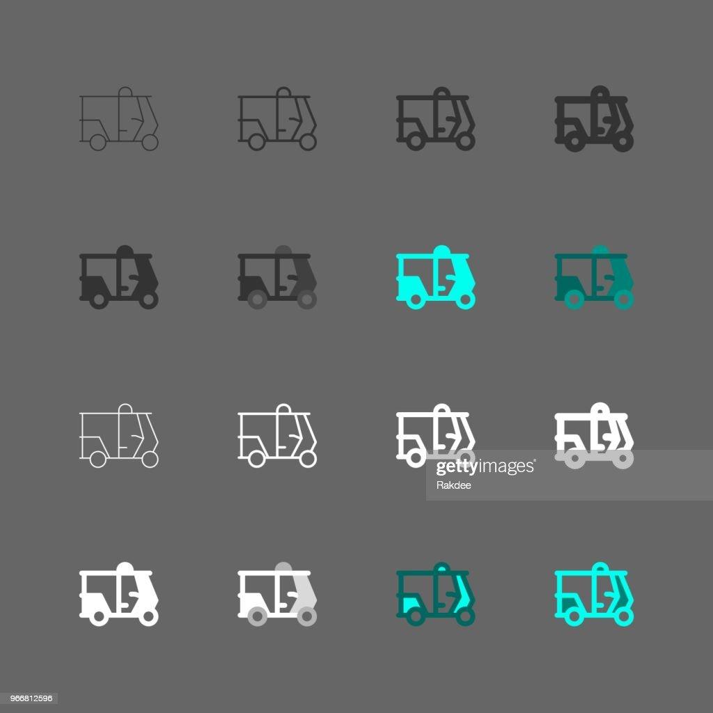 TukTuk Icon - Multi Series : stock illustration