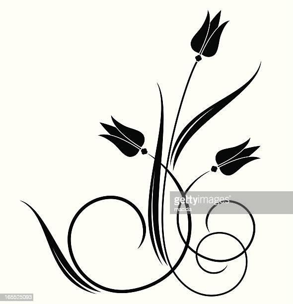 Illustrations et dessins anim s de tulipe getty images - Dessin de tulipe a imprimer ...