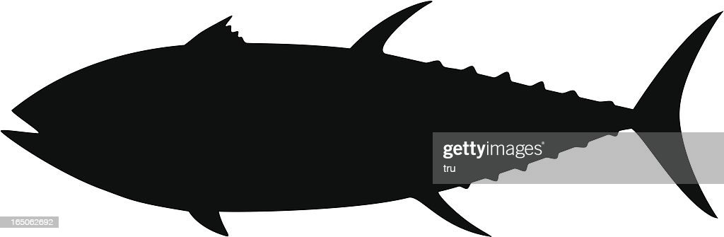 tuna silhouette vector art getty images